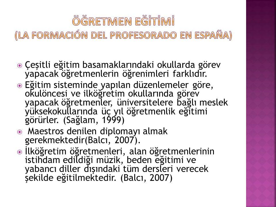Öğretmen eğİtİmİ (la formación del profesorado en España)