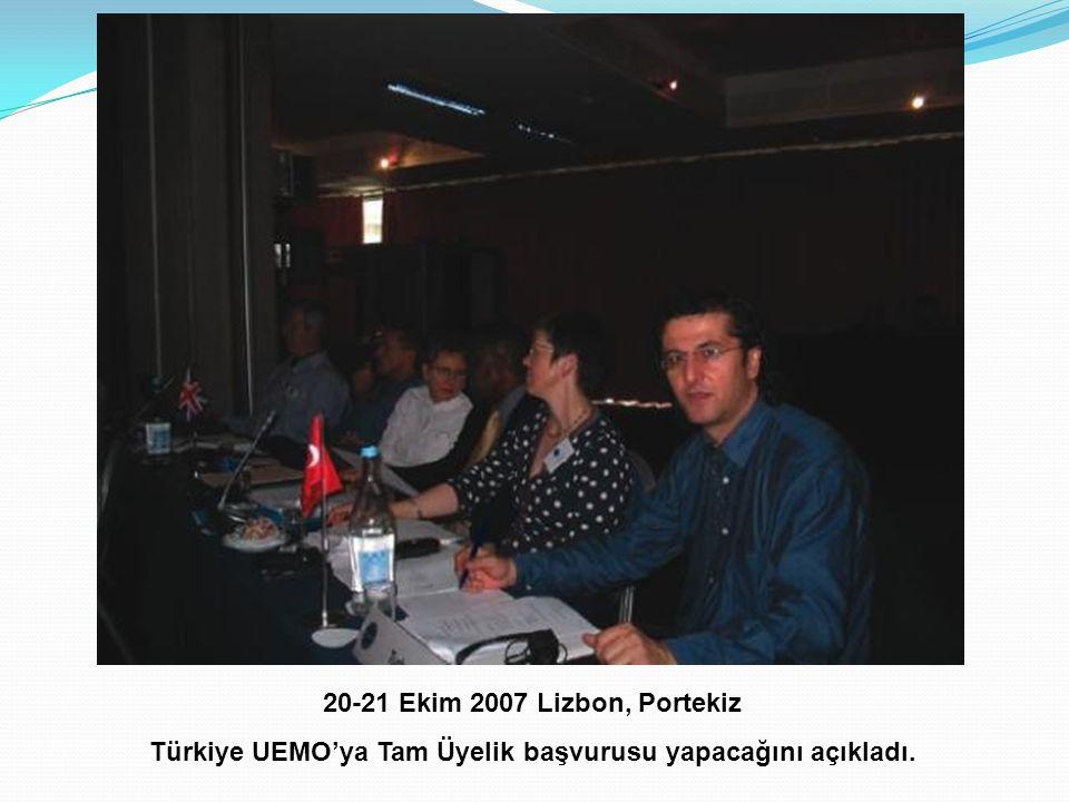 Türkiye UEMO'ya Tam Üyelik başvurusu yapacağını açıkladı.