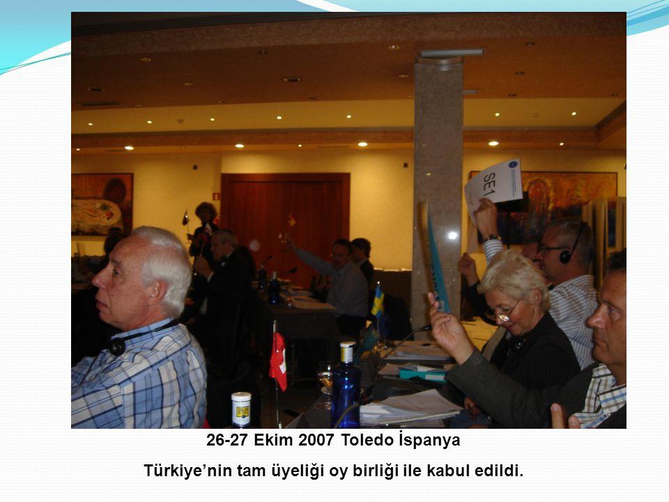 Türkiye'nin tam üyeliği oy birliği ile kabul edildi.