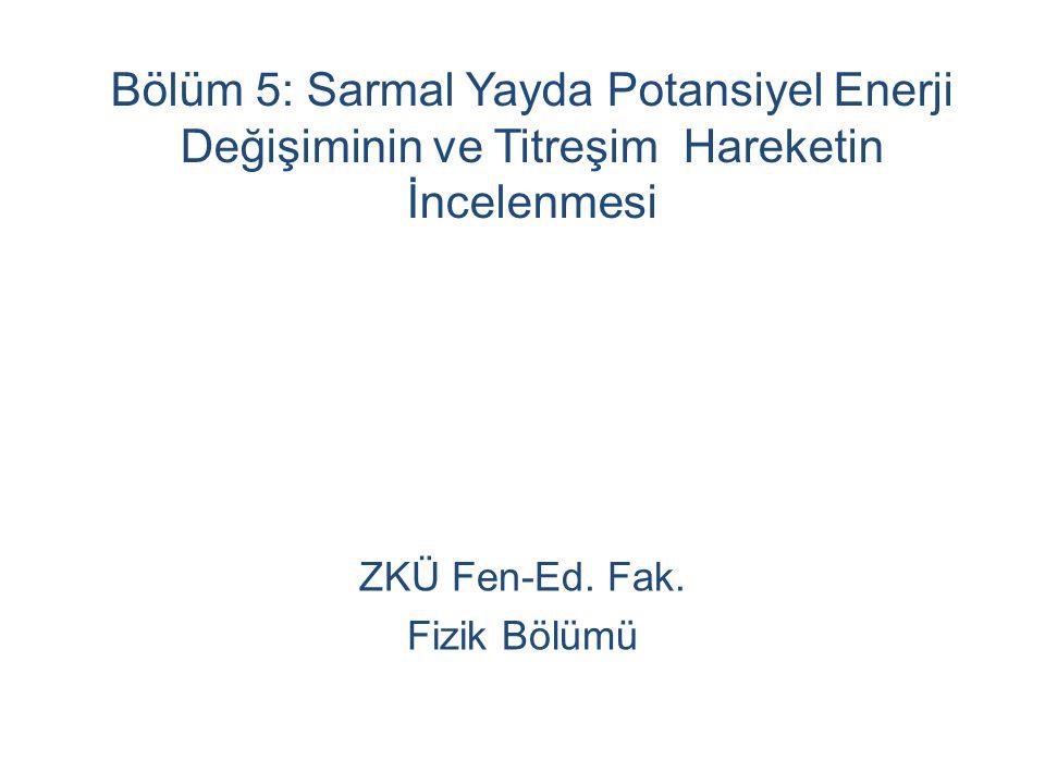Bölüm 5: Sarmal Yayda Potansiyel Enerji Değişiminin ve Titreşim Hareketin İncelenmesi