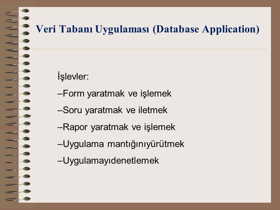 Veri Tabanı Uygulaması (Database Application)