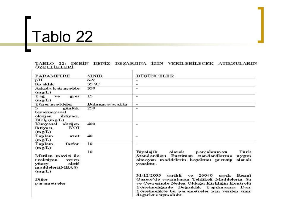 Tablo 22