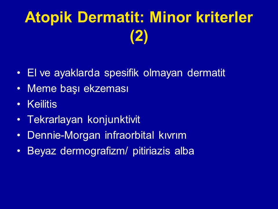 Atopik Dermatit: Minor kriterler (2)