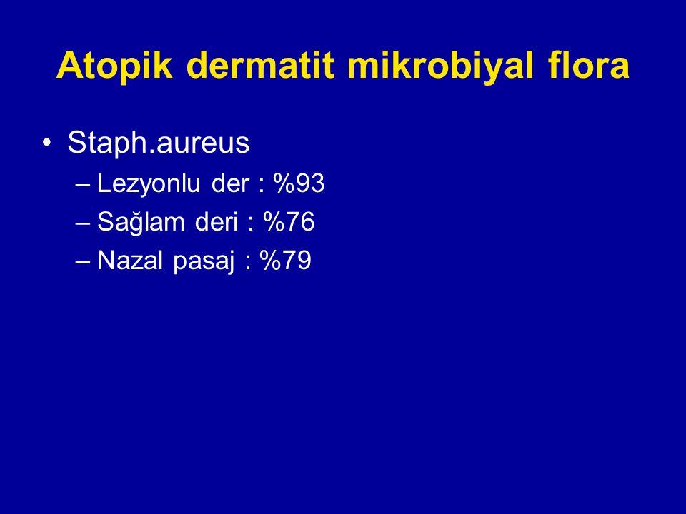 Atopik dermatit mikrobiyal flora