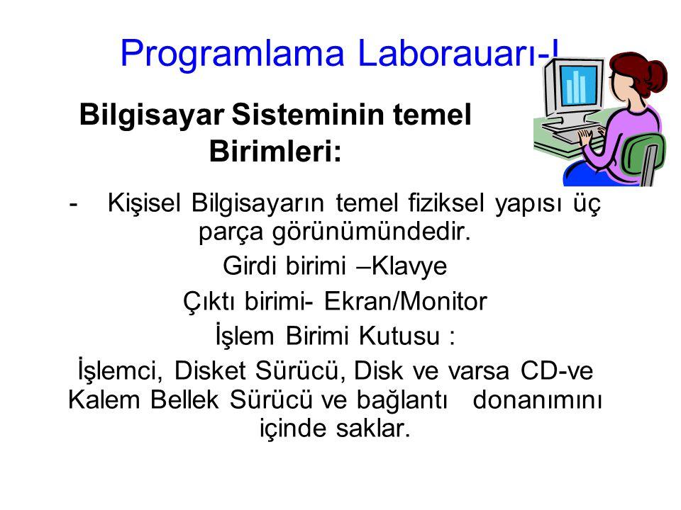 Programlama Laborauarı-I