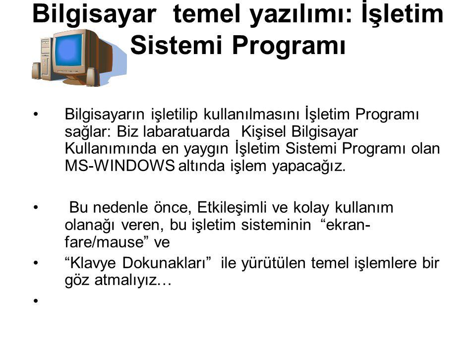 Bilgisayar temel yazılımı: İşletim Sistemi Programı