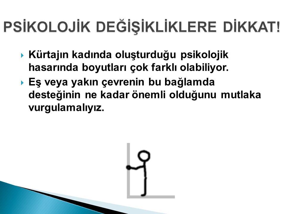 PSİKOLOJİK DEĞİŞİKLİKLERE DİKKAT!