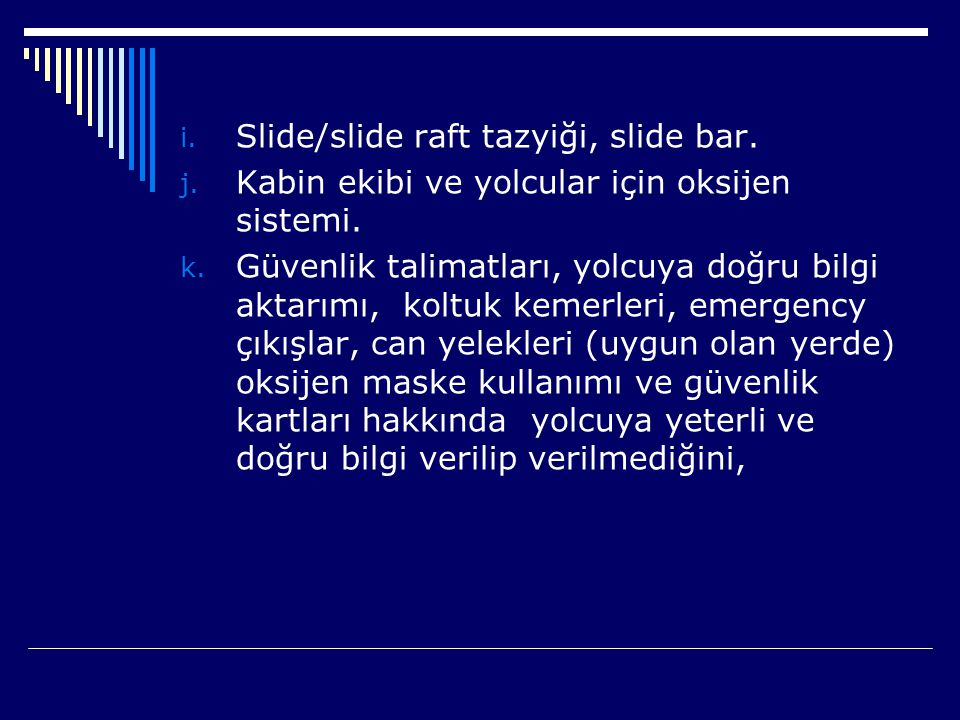 Slide/slide raft tazyiği, slide bar.