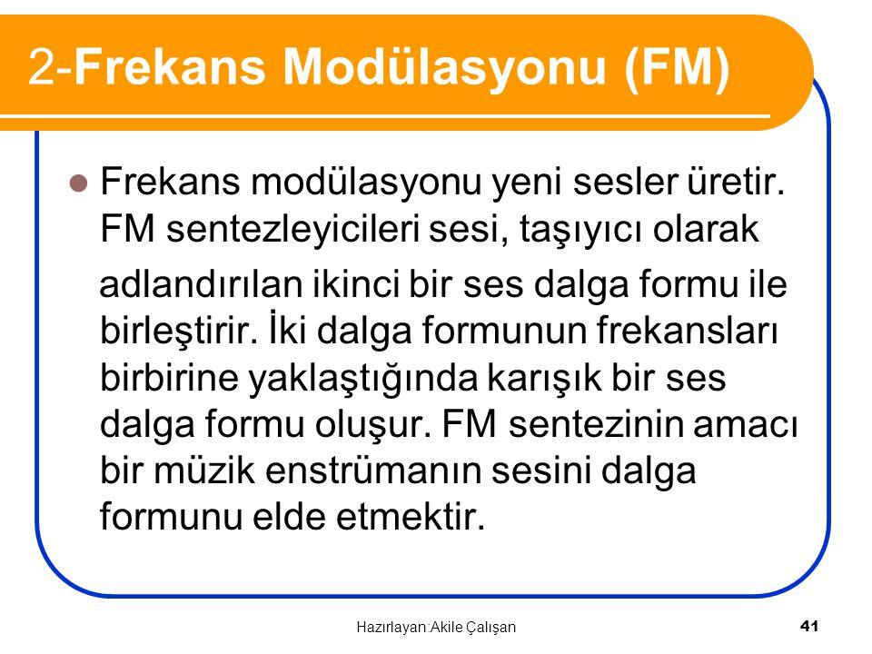 2-Frekans Modülasyonu (FM)