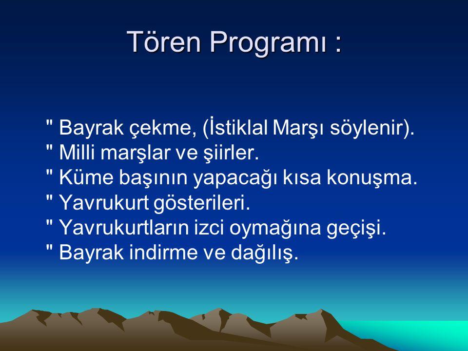 Tören Programı :