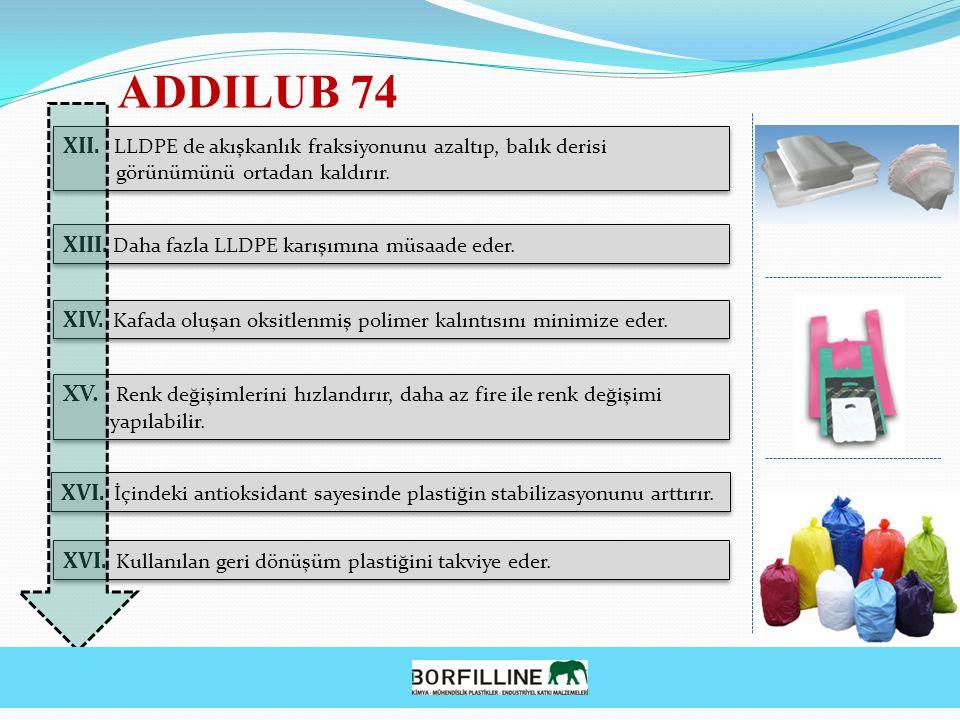 ADDILUB 74 XII. LLDPE de akışkanlık fraksiyonunu azaltıp, balık derisi