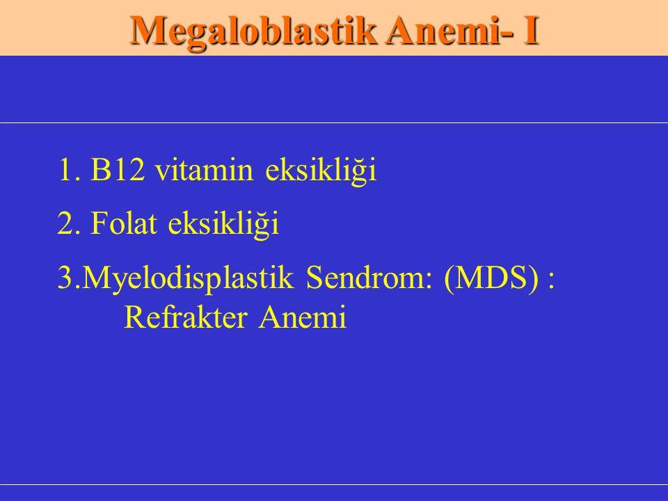 Megaloblastik Anemi- I