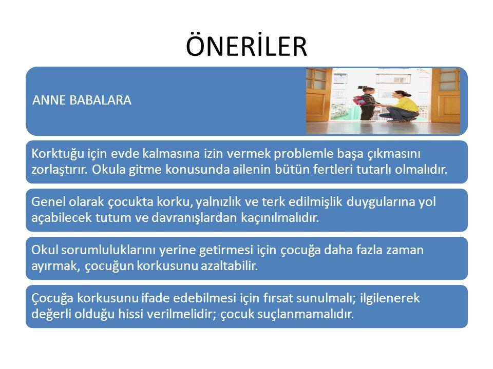 ÖNERİLER ANNE BABALARA