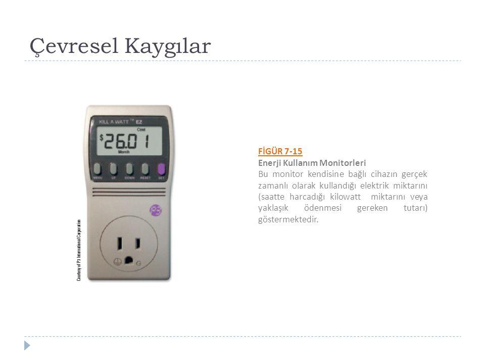 Çevresel Kaygılar FİGÜR 7-15 Enerji Kullanım Monitorleri