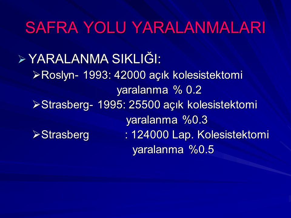 SAFRA YOLU YARALANMALARI