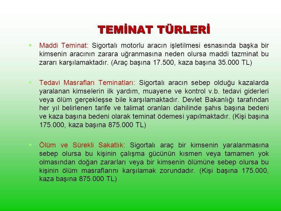 TEMİNAT TÜRLERİ
