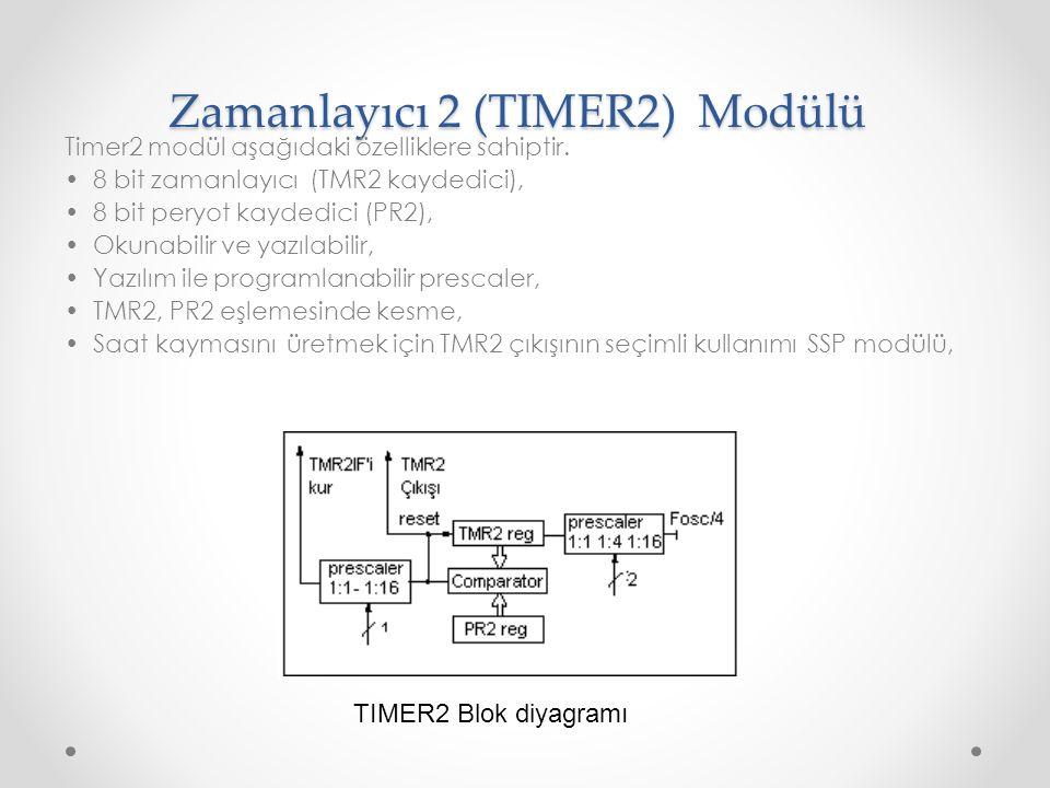 Zamanlayıcı 2 (TIMER2) Modülü