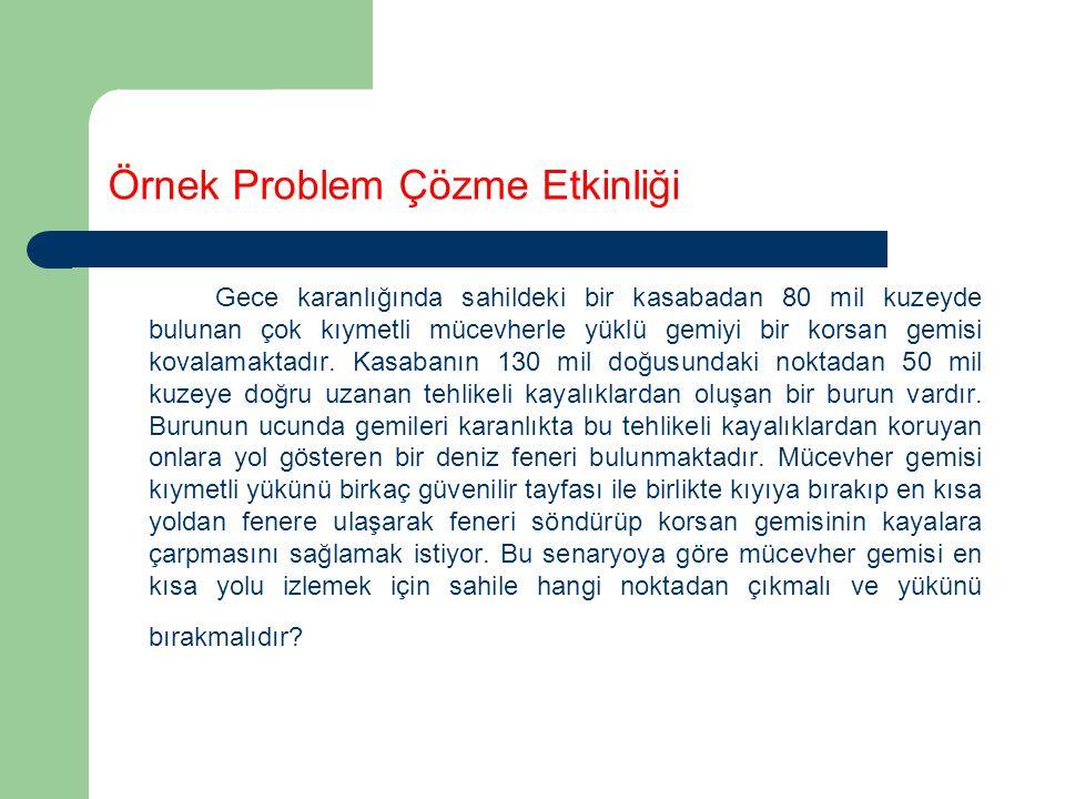 Örnek Problem Çözme Etkinliği