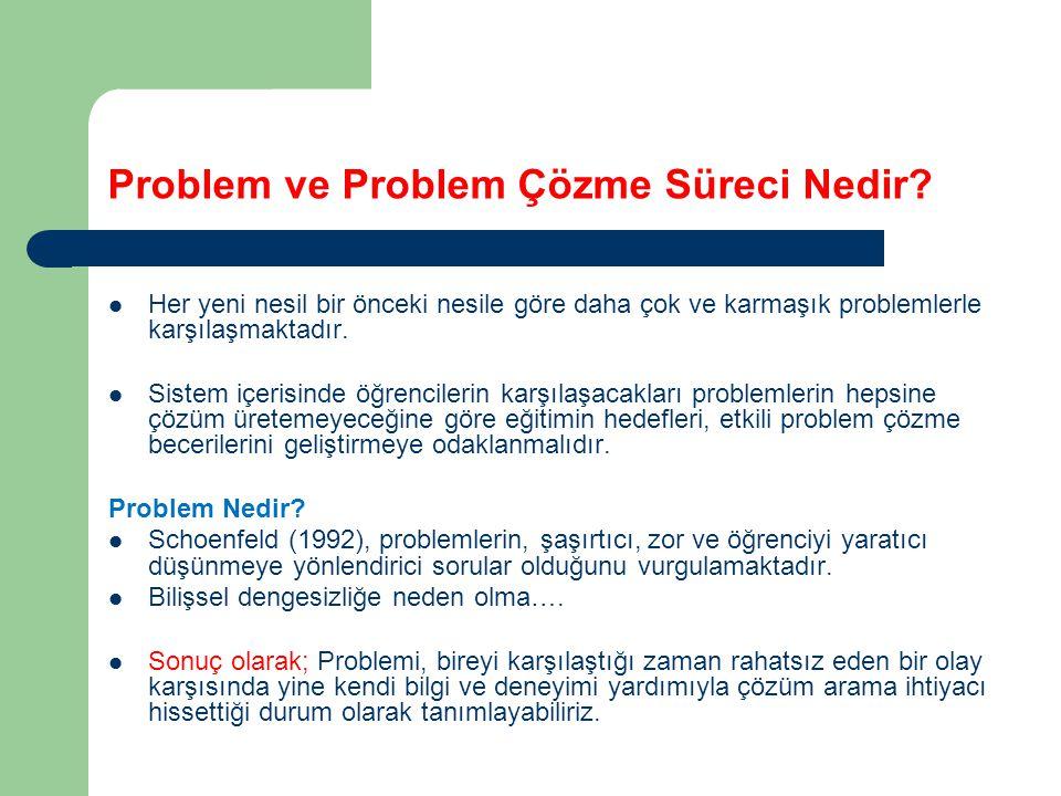Problem ve Problem Çözme Süreci Nedir