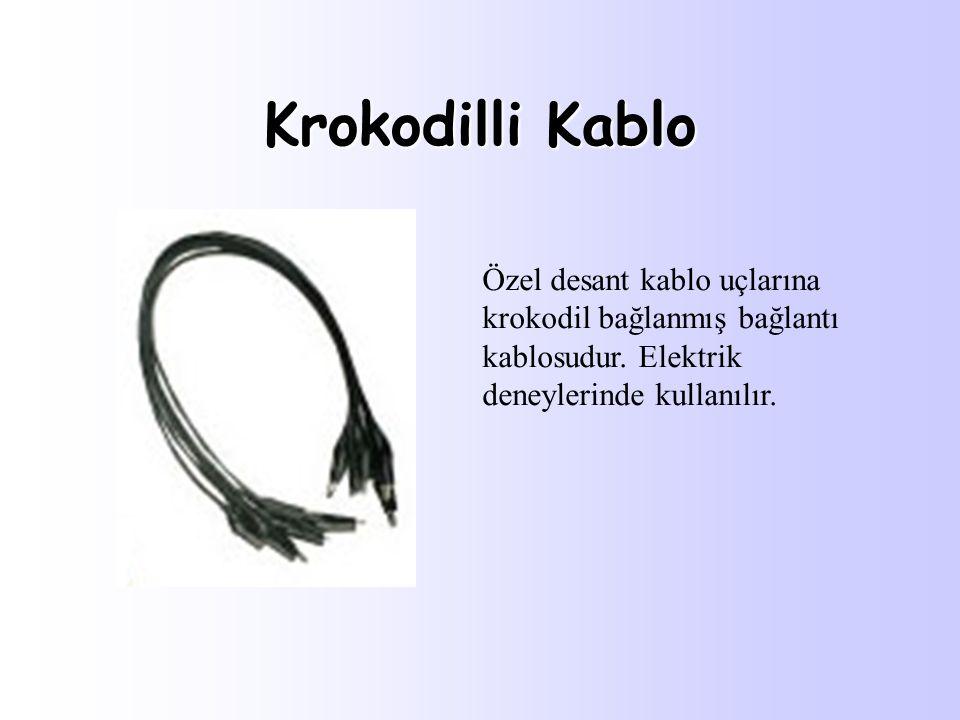 Krokodilli Kablo Özel desant kablo uçlarına krokodil bağlanmış bağlantı kablosudur.