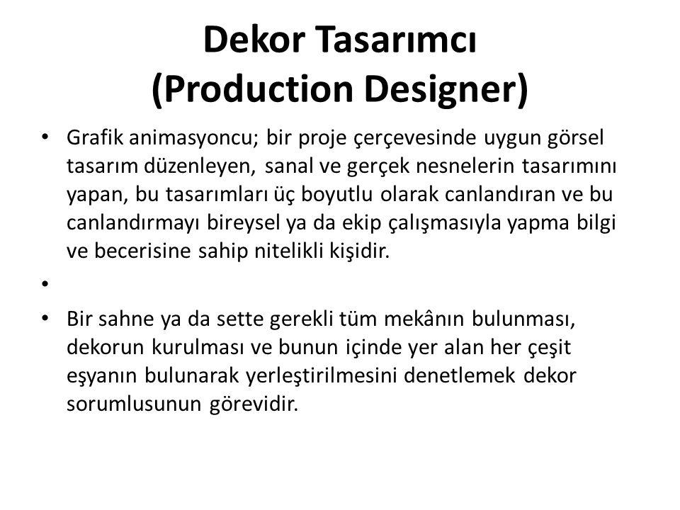 Dekor Tasarımcı (Production Designer)