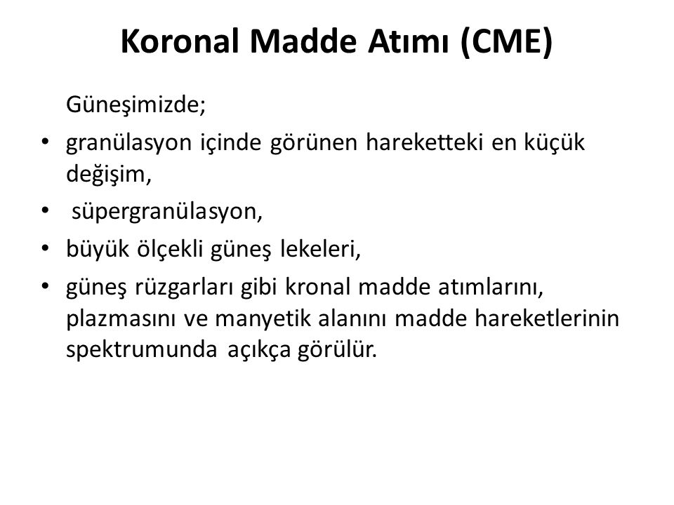 Koronal Madde Atımı (CME)