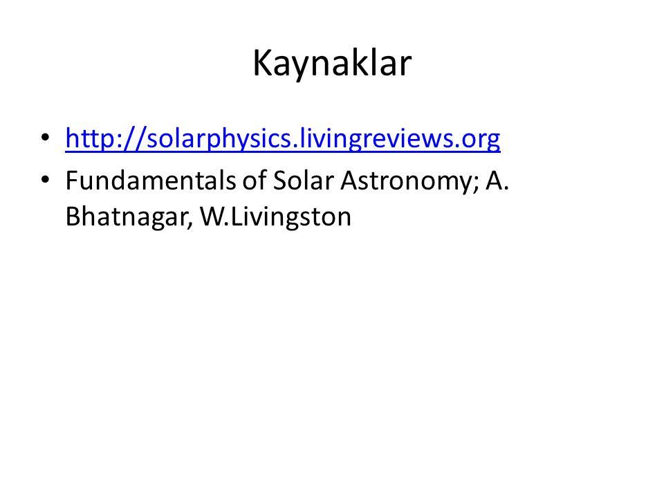 Kaynaklar http://solarphysics.livingreviews.org