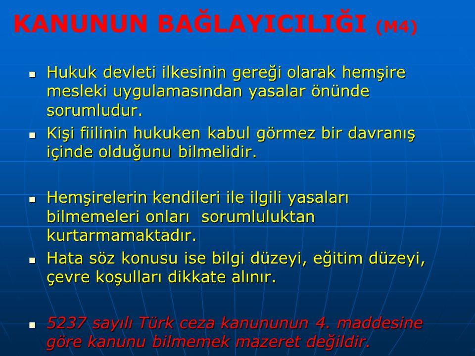 KANUNUN BAĞLAYICILIĞI (M4)