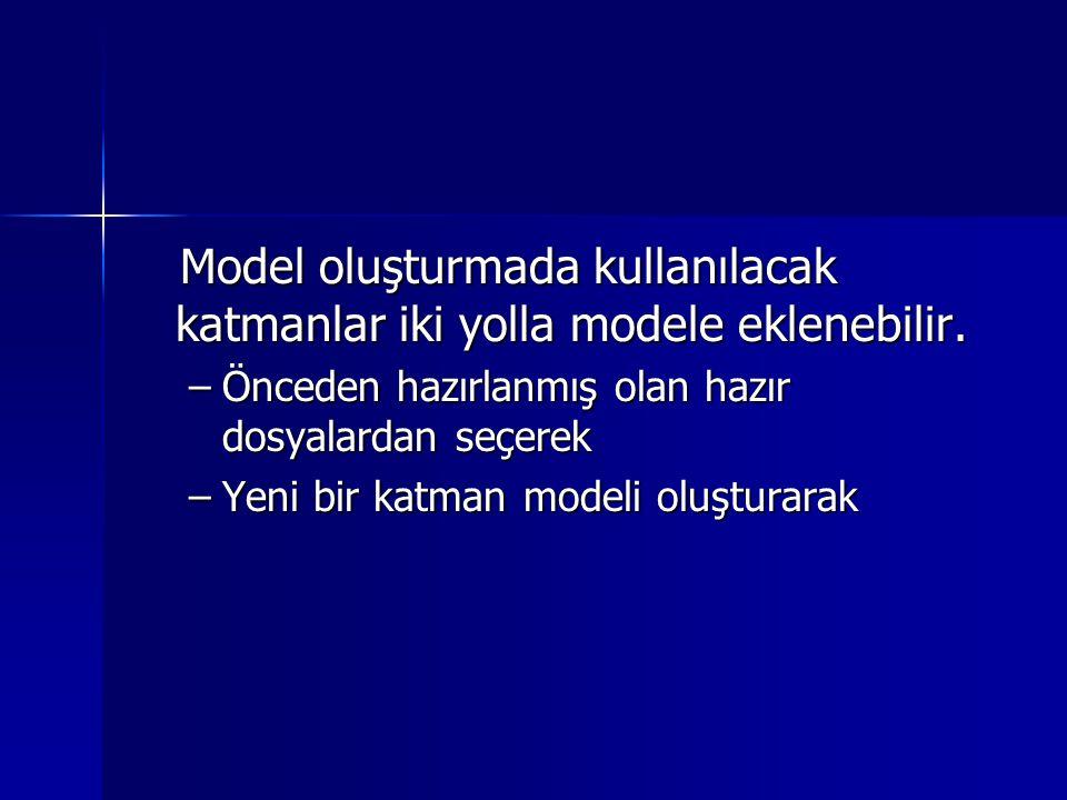 Model oluşturmada kullanılacak katmanlar iki yolla modele eklenebilir.