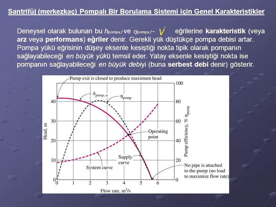 Santrifüj (merkezkaç) Pompalı Bir Borulama Sistemi için Genel Karakteristikler