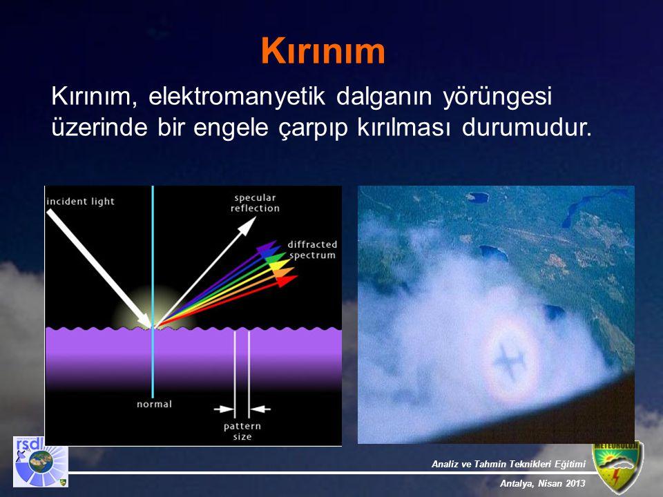 Kırınım Kırınım, elektromanyetik dalganın yörüngesi üzerinde bir engele çarpıp kırılması durumudur.