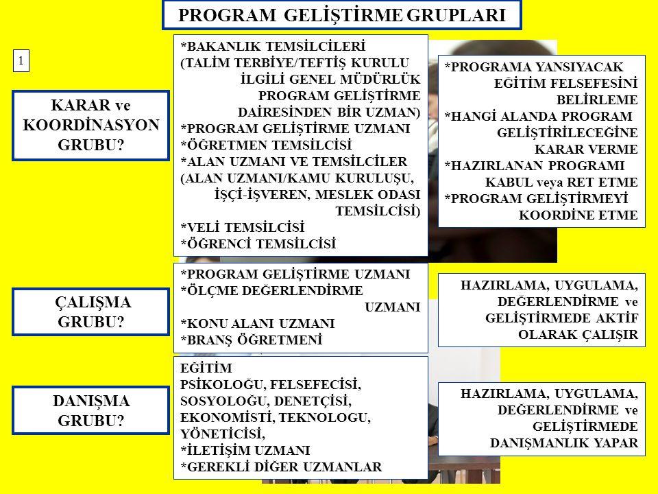 PROGRAM GELİŞTİRME GRUPLARI KARAR ve KOORDİNASYON GRUBU