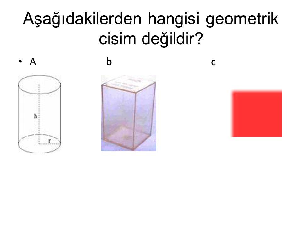 Aşağıdakilerden hangisi geometrik cisim değildir