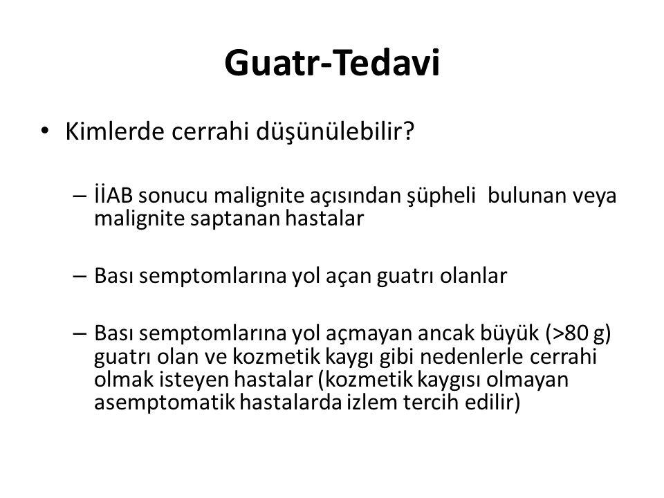 Guatr-Tedavi Kimlerde cerrahi düşünülebilir
