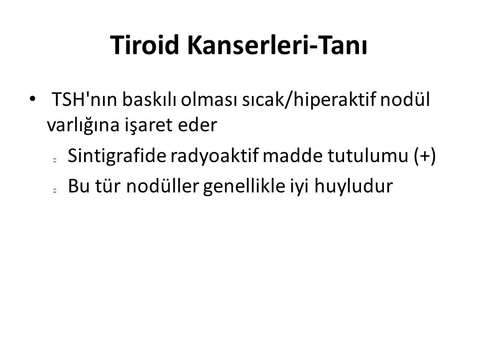 Tiroid Kanserleri-Tanı