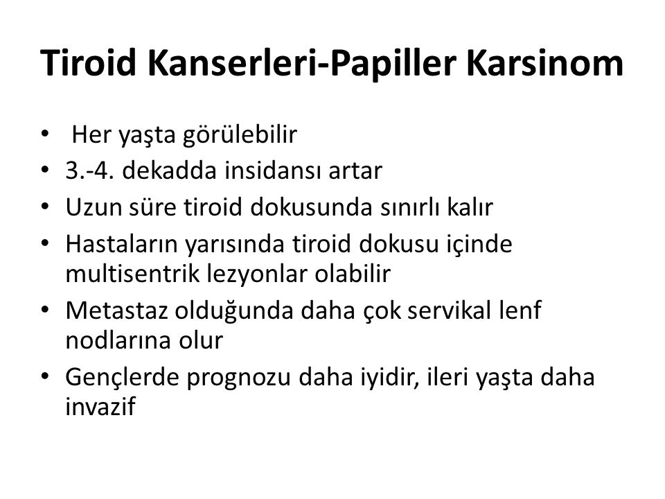 Tiroid Kanserleri-Papiller Karsinom