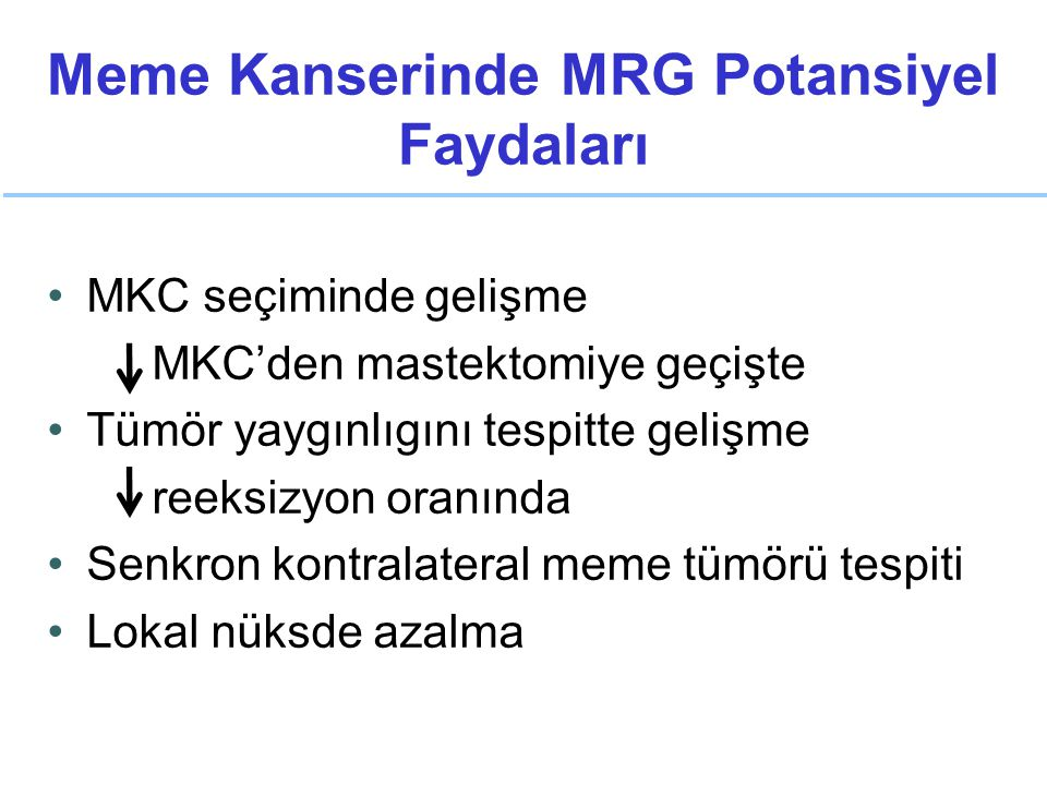 Meme Kanserinde MRG Potansiyel Faydaları