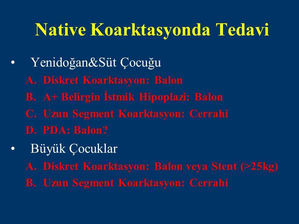 Native Koarktasyonda Tedavi