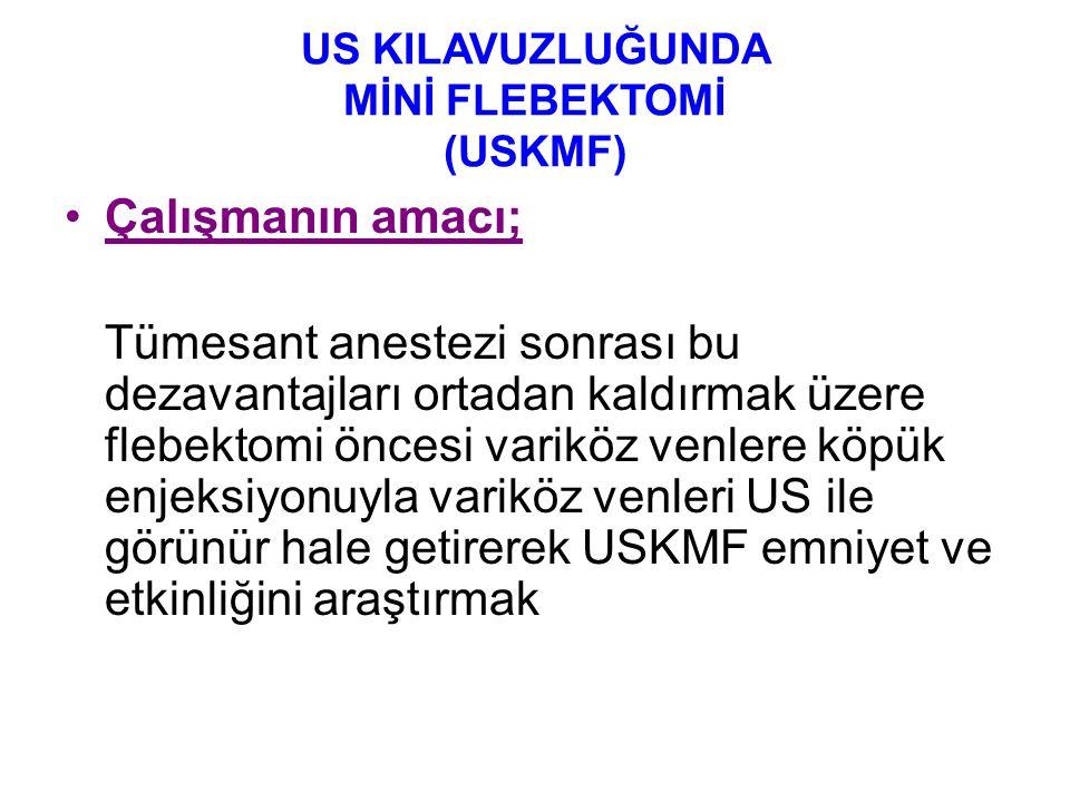 US KILAVUZLUĞUNDA MİNİ FLEBEKTOMİ (USKMF)