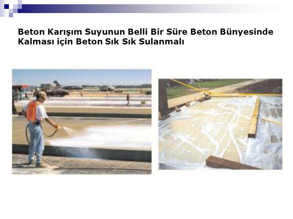 Beton Karışım Suyunun Belli Bir Süre Beton Bünyesinde Kalması için Beton Sık Sık Sulanmalı