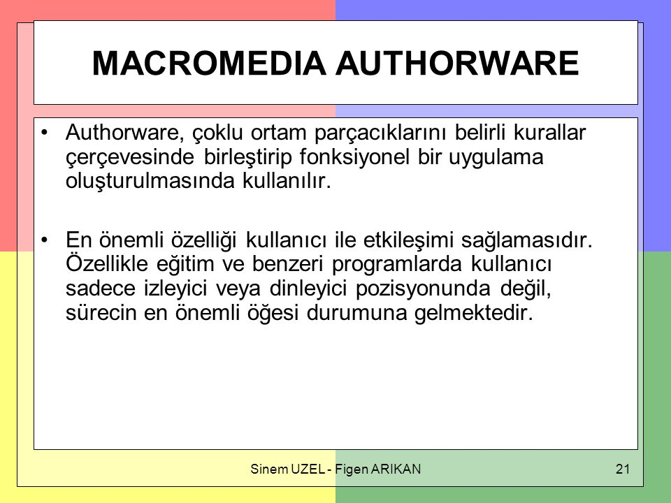 MACROMEDIA AUTHORWARE