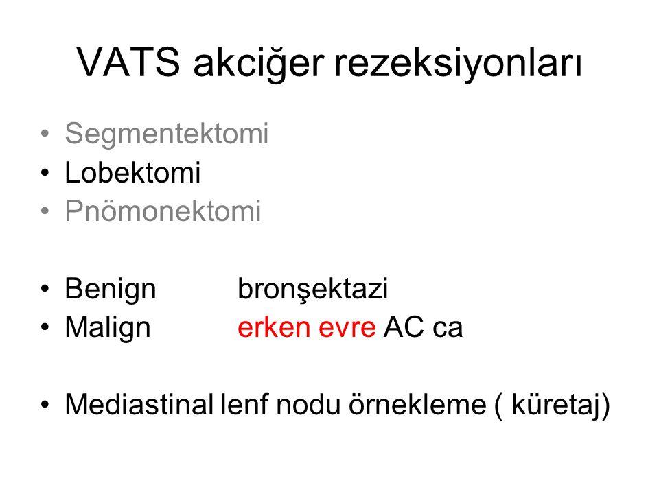 VATS akciğer rezeksiyonları