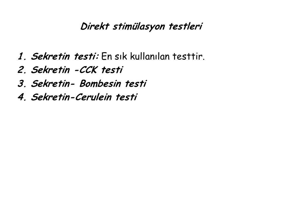 Direkt stimülasyon testleri
