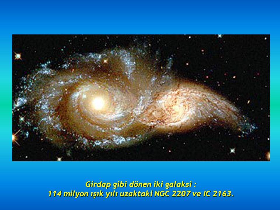 Girdap gibi dönen iki galaksi :