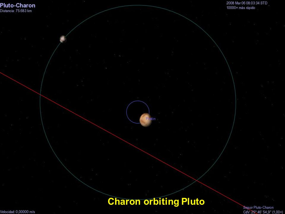 Charon orbiting Pluto