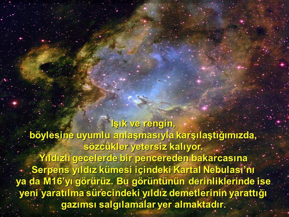 Serpens yıldız kümesi içindeki Kartal Nebulası'nı