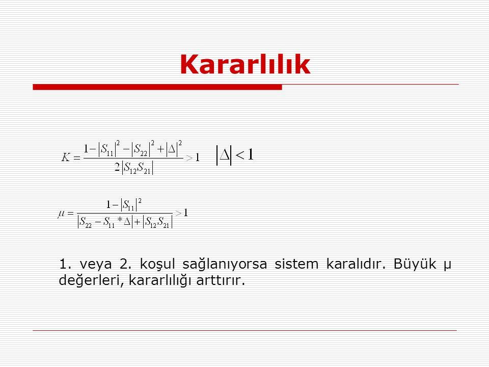Kararlılık 1. veya 2. koşul sağlanıyorsa sistem karalıdır. Büyük μ değerleri, kararlılığı arttırır.
