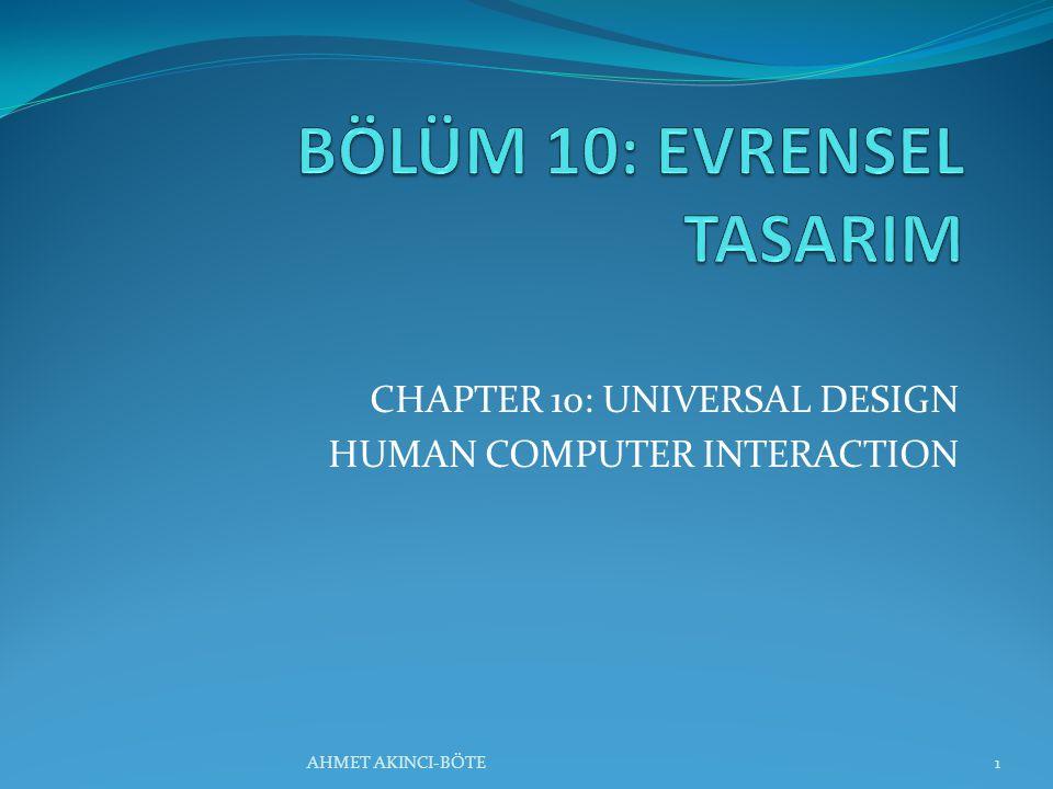 BÖLÜM 10: EVRENSEL TASARIM