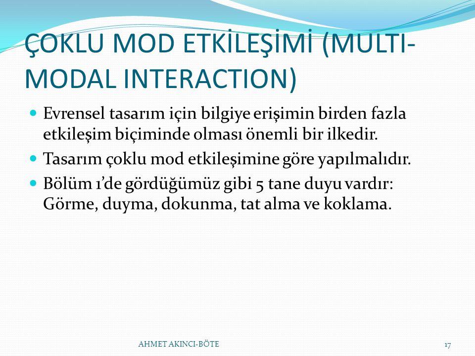 ÇOKLU MOD ETKİLEŞİMİ (MULTI-MODAL INTERACTION)