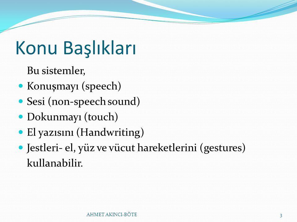 Konu Başlıkları Bu sistemler, Konuşmayı (speech)